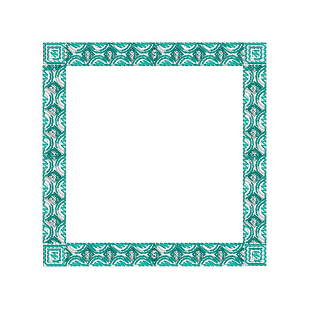square victorian frame isolated icon vector illustration design Иллюстрация