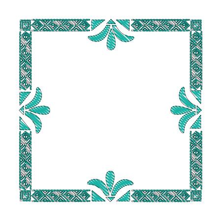 square victorian frame isolated icon vector illustration design  イラスト・ベクター素材