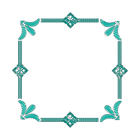 square victorian frame isolated icon vector illustration design Stock Illustratie