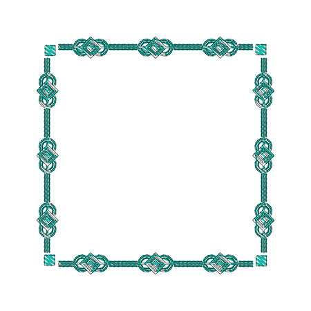 square victorian frame isolated icon vector illustration design Illustration
