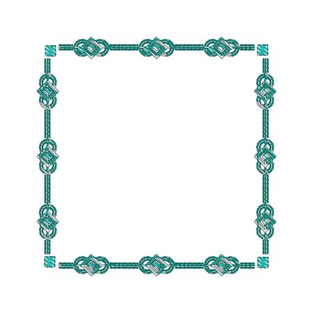 square victorian frame isolated icon vector illustration design Illustration