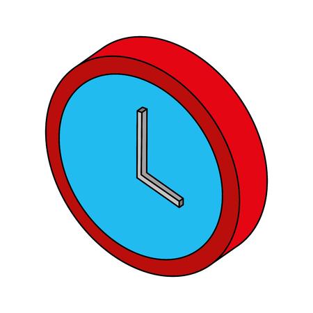 time clock isometric icon vector illustration design Archivio Fotografico - 101511149