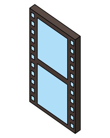 tape film isometric icon vector illustration design