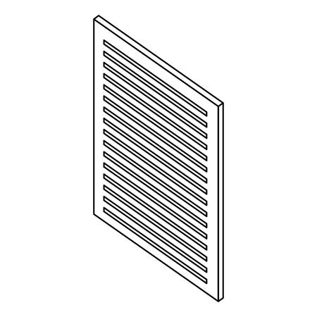 document paper information report isometric vector illustration thin line Illustration