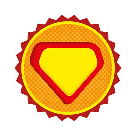 super hero shield emblem vector illustration design