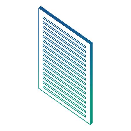 document paper information report isometric vector illustration blue neon Illustration