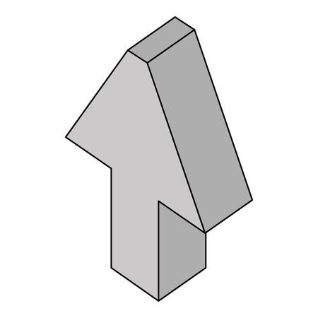 arrow up isometric icon vector illustration design Illustration