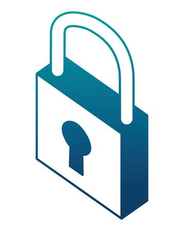 safe padlock isometric icon vector illustration design Archivio Fotografico - 101511446