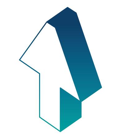 arrow up isometric icon vector illustration design Stock Illustratie