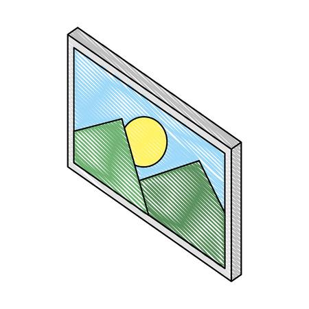 picture file isometric icon vector illustration design Illustration