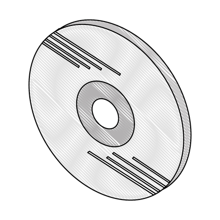 compact disk isometric icon vector illustration design Illustration