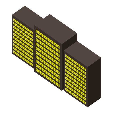 server data center isometric icon vector illustration design Stock Vector - 101511506