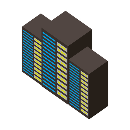 server data center isometric icon vector illustration design Stock Vector - 101511508