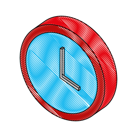 time clock isometric icon vector illustration design