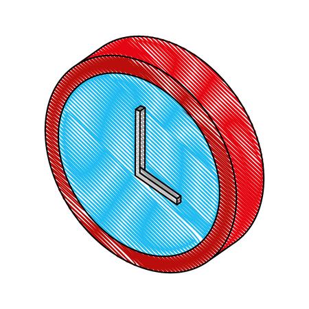 time clock isometric icon vector illustration design