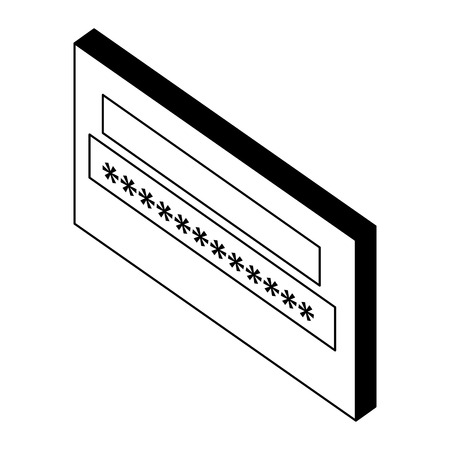 login password isometric icon vector illustration design