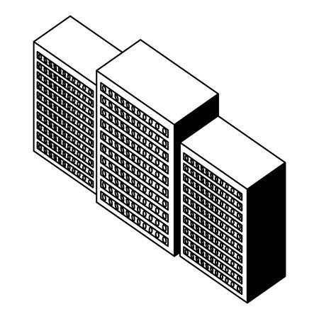 server data center isometric icon vector illustration design Stock Vector - 101507504