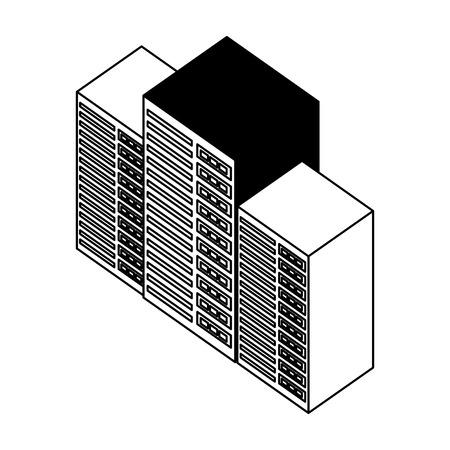 server data center isometric icon vector illustration design Stock Vector - 101507505