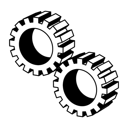 gears machine isometric icon vector illustration design