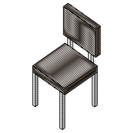 chair of four legged isometric icon vector illustration design