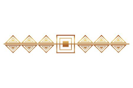 victorian line golden border style vector illustration design
