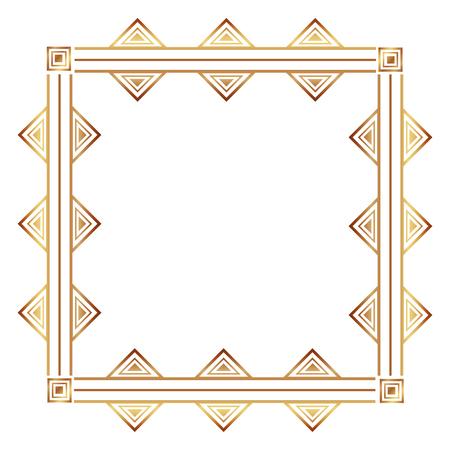 square victorian golden frame vector illustration design 写真素材 - 101511634