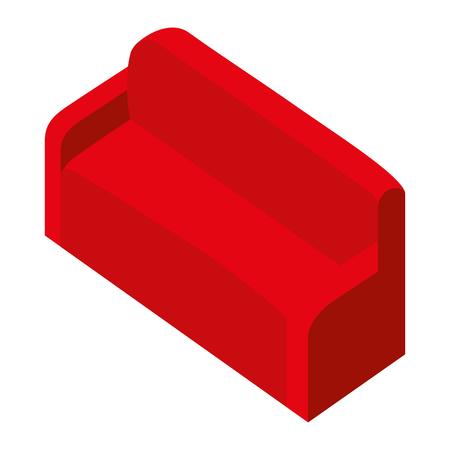 comfortable sofa isometric icon vector illustration design