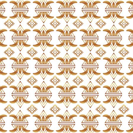 elegant pattern victorian golden style vector illustration design