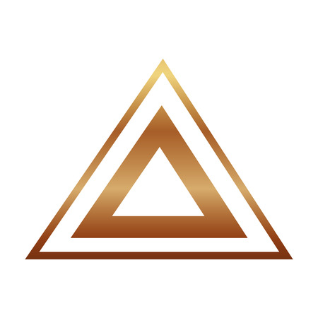 triangle golden victorian style vector illustration design