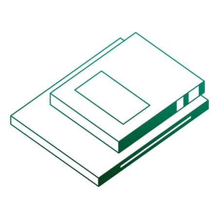 text books isometric icon vector illustration design Ilustrace