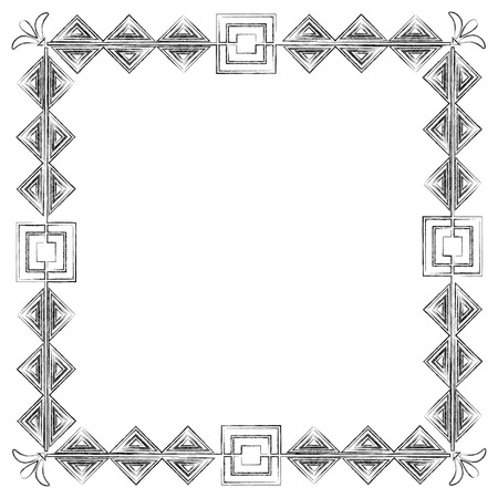 square victorian frame style vector illustration design