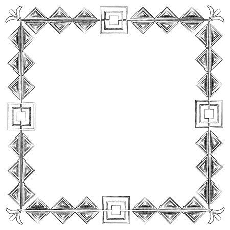 square victorian frame style vector illustration design