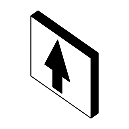 button with arrow up isometric icon vector illustration design