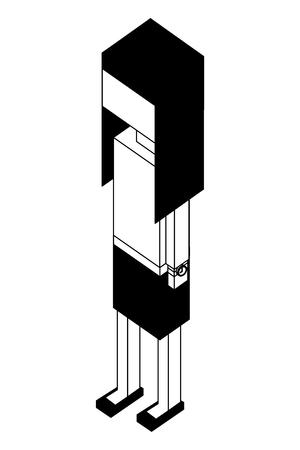 elegant businesswoman isometric icon vector illustration design Ilustração