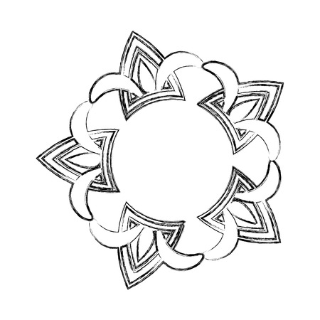 cover frame victorian style with floral shape vector illustration design  イラスト・ベクター素材