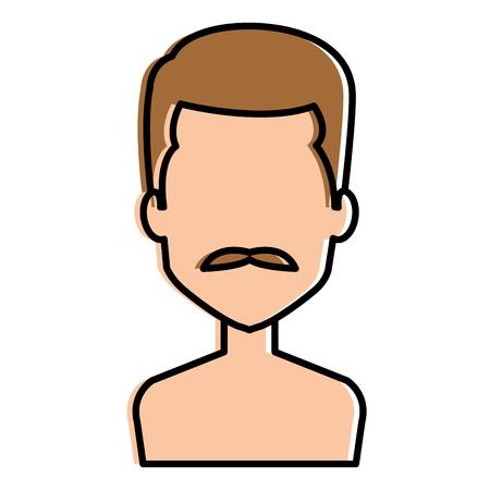 young man shirtless avatar character vector illustration design Stock Vector - 101532354