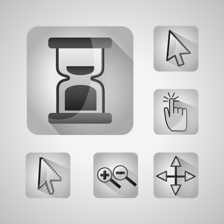 gps navigation application app set tools location vector illustration Illustration