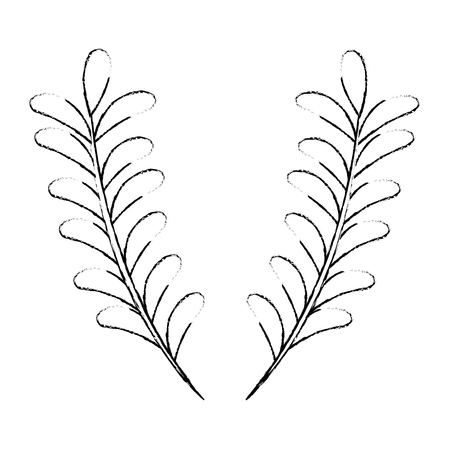 Leaf branch natural icon vector illustration design
