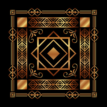 art deco background geometric adornment abstract vector illustration Imagens - 101532565