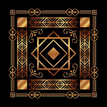 art deco background geometric adornment abstract vector illustration Ilustração