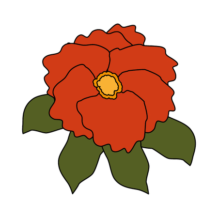 beautiful flower garden icon vector illustration design  イラスト・ベクター素材