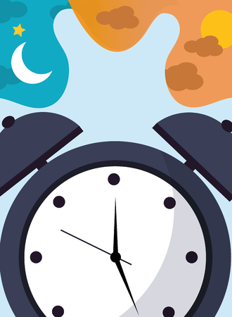 alarm clock time classic bell vector illustration