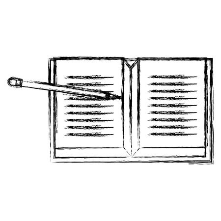 notebook school with pencil vector illustration design Illustration