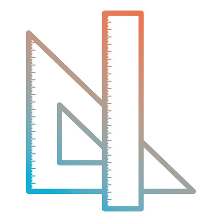 triangular geometric rules school vector illustration design Illustration