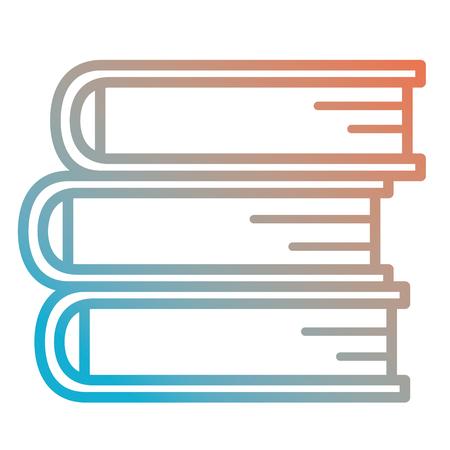 books school pile icon vector illustration design