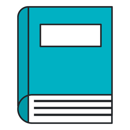 book school isolated icon vector illustration design