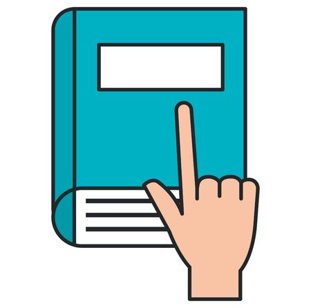 hand with book school vector illustration design Иллюстрация