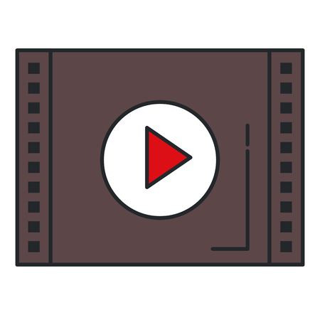 media player interface icon vector illustration design 向量圖像