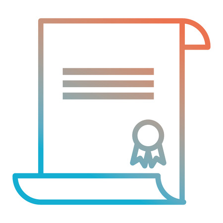 graduation certificate isolated icon vector illustration design