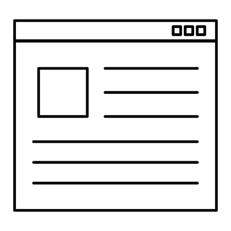 webpage template windows icon vector illustration design